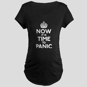 Time To Panic Maternity Dark T-Shirt