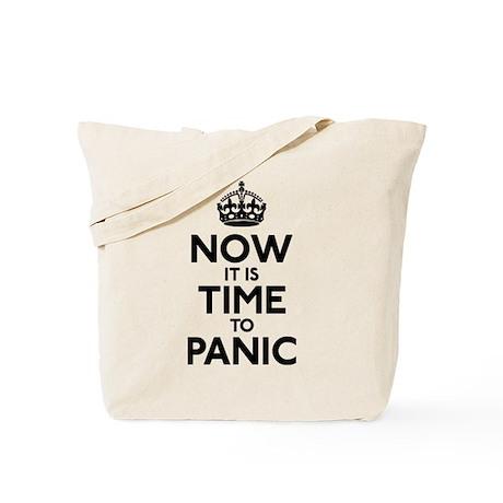 Time To Panic Tote Bag