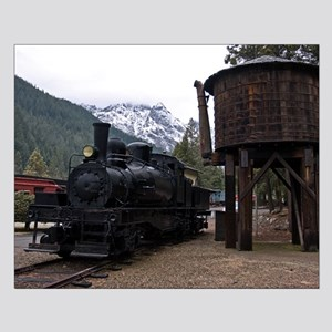 Shay Locomotive & Tower Small Poster