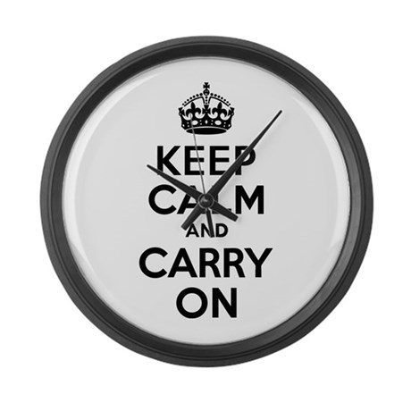 Keep Calm & Carry On Large Wall Clock