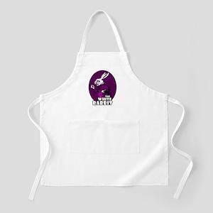 White Rabbit Logo Plum Apron