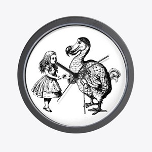Alice and Dodo Wall Clock