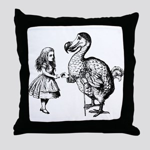 Alice and Dodo Throw Pillow