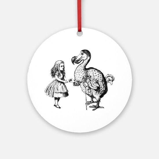 Alice and Dodo Ornament (Round)
