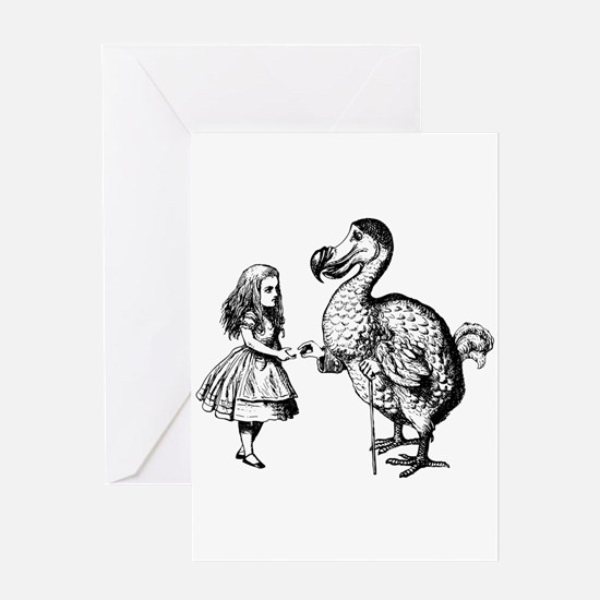Alice and Dodo Greeting Card