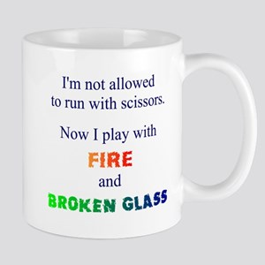 Fire And Broken Glass Mug Mugs