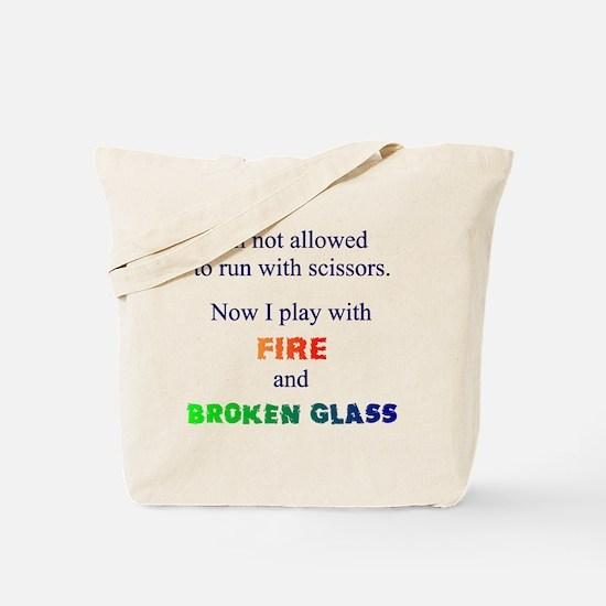 Fire & Broken Glass Tote Bag