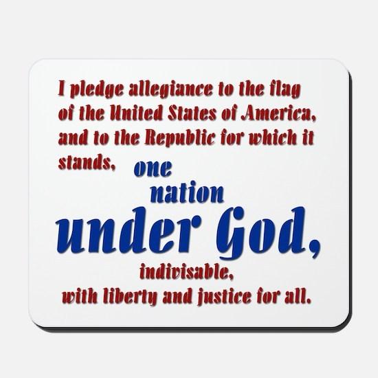USA under God Mousepad