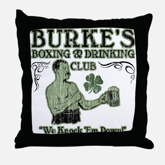Burke's Club Throw Pillow