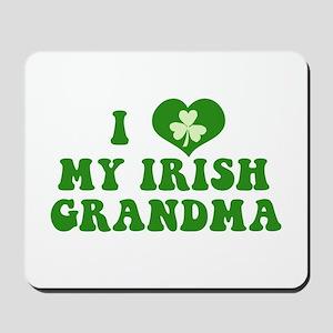 I Love My Irish Grandma Mousepad