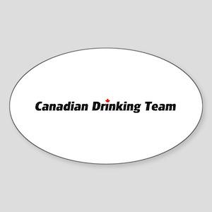 Canadian Drinking Team Oval Sticker