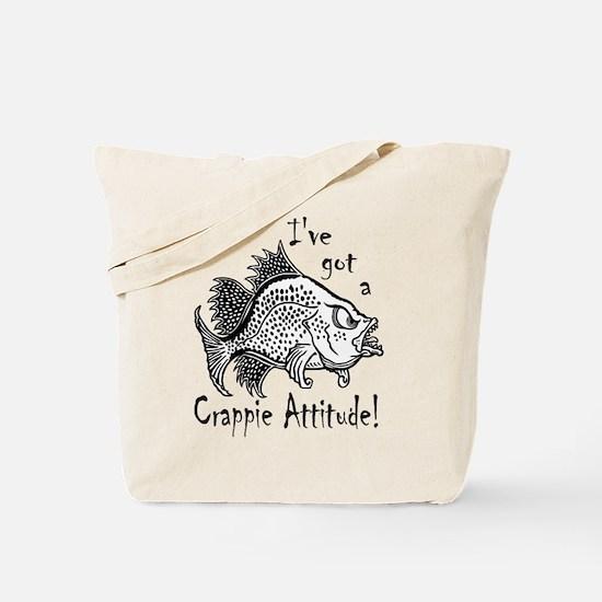 Crappie Attitude Tote Bag