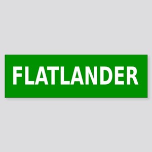 Flatlander (simple) Sticker (Bumper)
