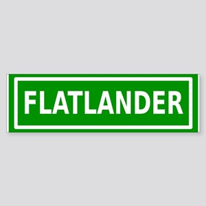Flatlander (bordered) Sticker (Bumper)