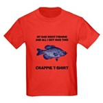 Crappie Dad Kids Dark T-Shirt