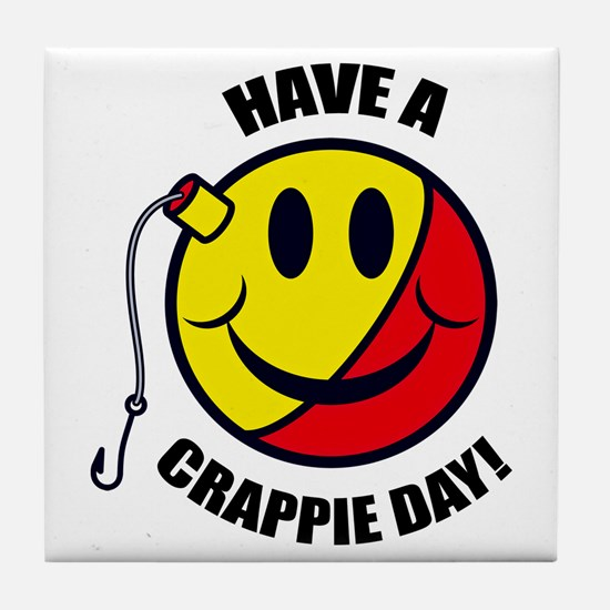 Crappie Day Tile Coaster