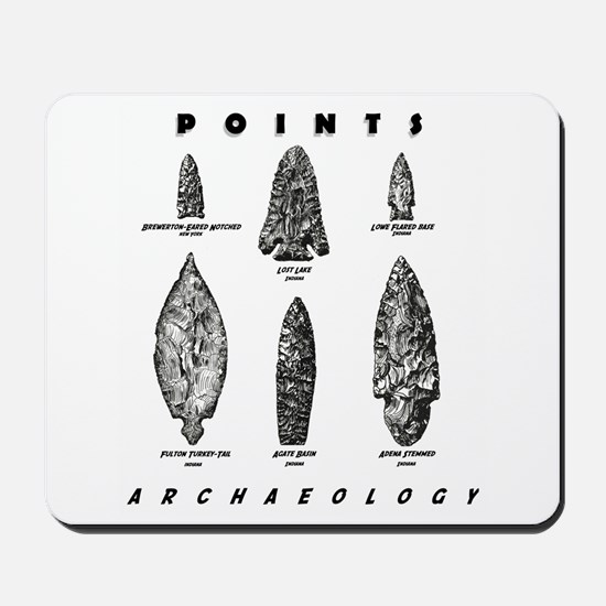 """Archaeologist """"Point"""" Mousepad"""
