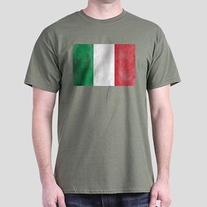 Vintage Italy Flag Dark T-Shirt