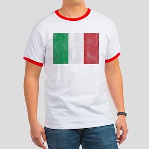 Vintage Italy Flag Ringer T