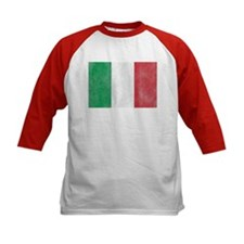 Vintage Italy Flag Kids Baseball Jersey