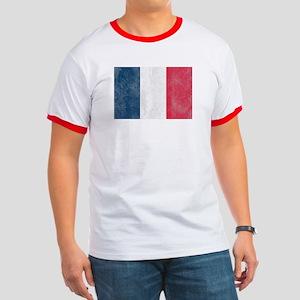 Vintage French Flag Ringer T