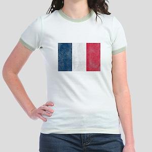 Vintage French Flag Jr. Ringer T-Shirt