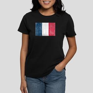 Vintage French Flag Women's Dark T-Shirt