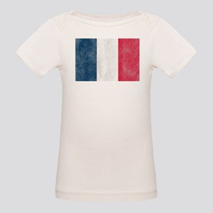 Vintage French Flag Organic Baby T-Shirt