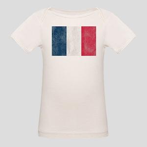 Vintage French Flag Organic Baby T-Shirt