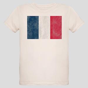 Vintage French Flag Organic Kids T-Shirt