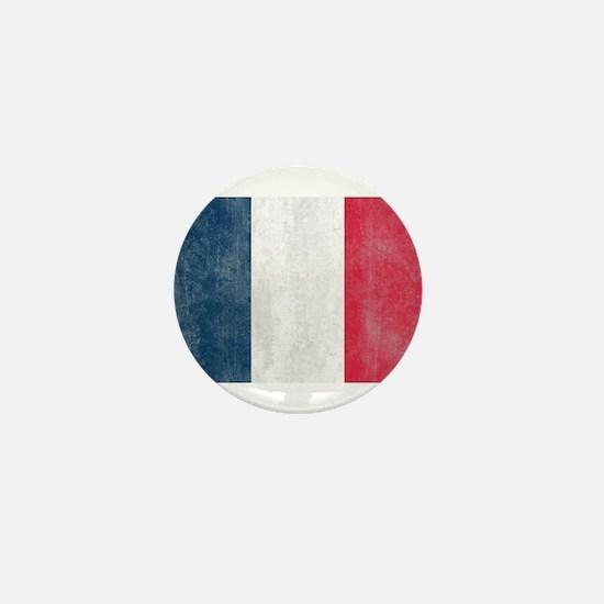 Vintage French Flag Mini Button