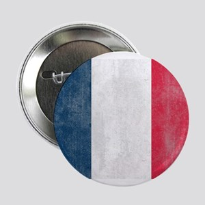 "Vintage French Flag 2.25"" Button"