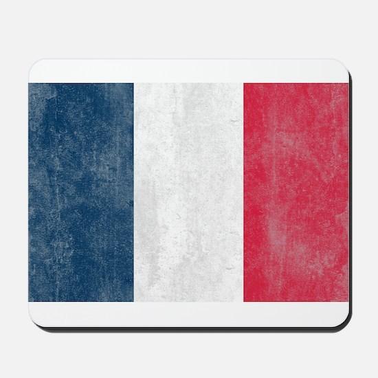 Vintage French Flag Mousepad