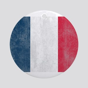 Vintage French Flag Ornament (Round)