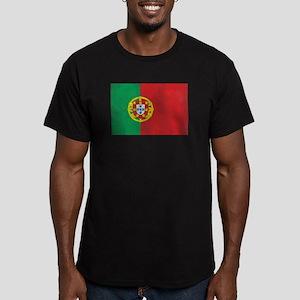 Vintage Portugal Flag Men's Fitted T-Shirt (dark)