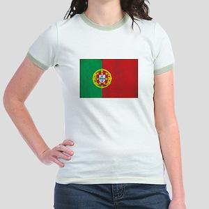 Vintage Portugal Flag Jr. Ringer T-Shirt