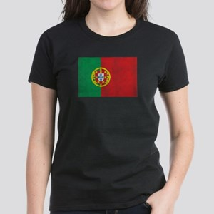 Vintage Portugal Flag Women's Dark T-Shirt
