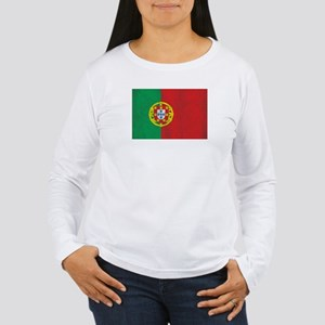 Vintage Portugal Flag Women's Long Sleeve T-Shirt