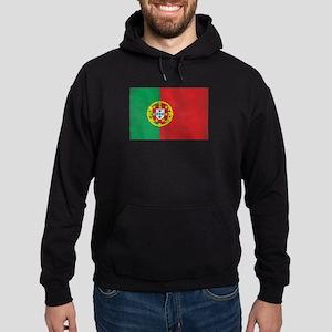Vintage Portugal Flag Hoodie (dark)