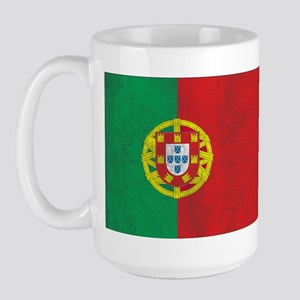 Vintage Portugal Flag Large Mug