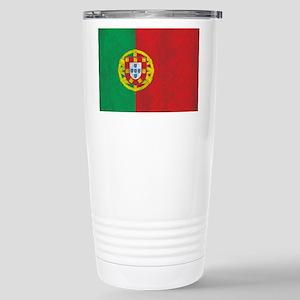 Vintage Portugal Flag Stainless Steel Travel Mug