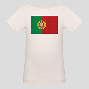 Vintage Portugal Flag Organic Baby T-Shirt
