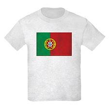Vintage Portugal Flag Kids Light T-Shirt