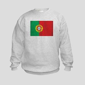 Vintage Portugal Flag Kids Sweatshirt