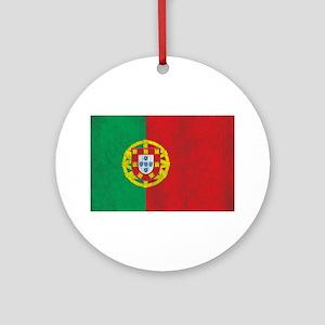 Vintage Portugal Flag Ornament (Round)