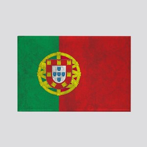 Vintage Portugal Flag Rectangle Magnet