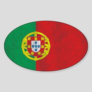 Vintage Portugal Flag Sticker (Oval)