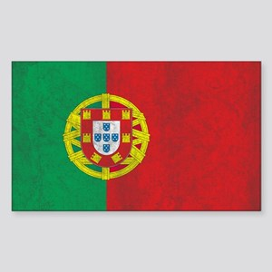 Vintage Portugal Flag Sticker (Rectangle)