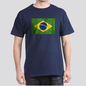 Vintage Brazil Flag Dark T-Shirt