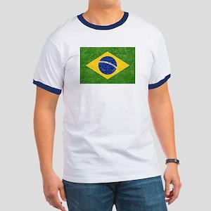 Vintage Brazil Flag Ringer T